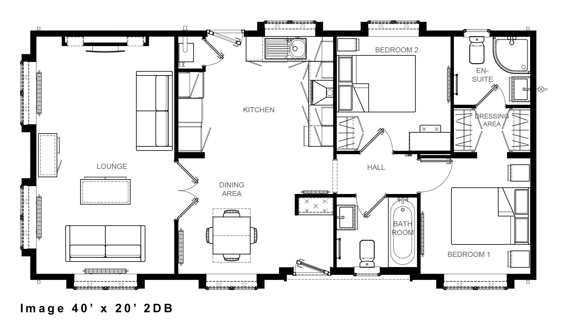 Image 40 x 20 floor plan