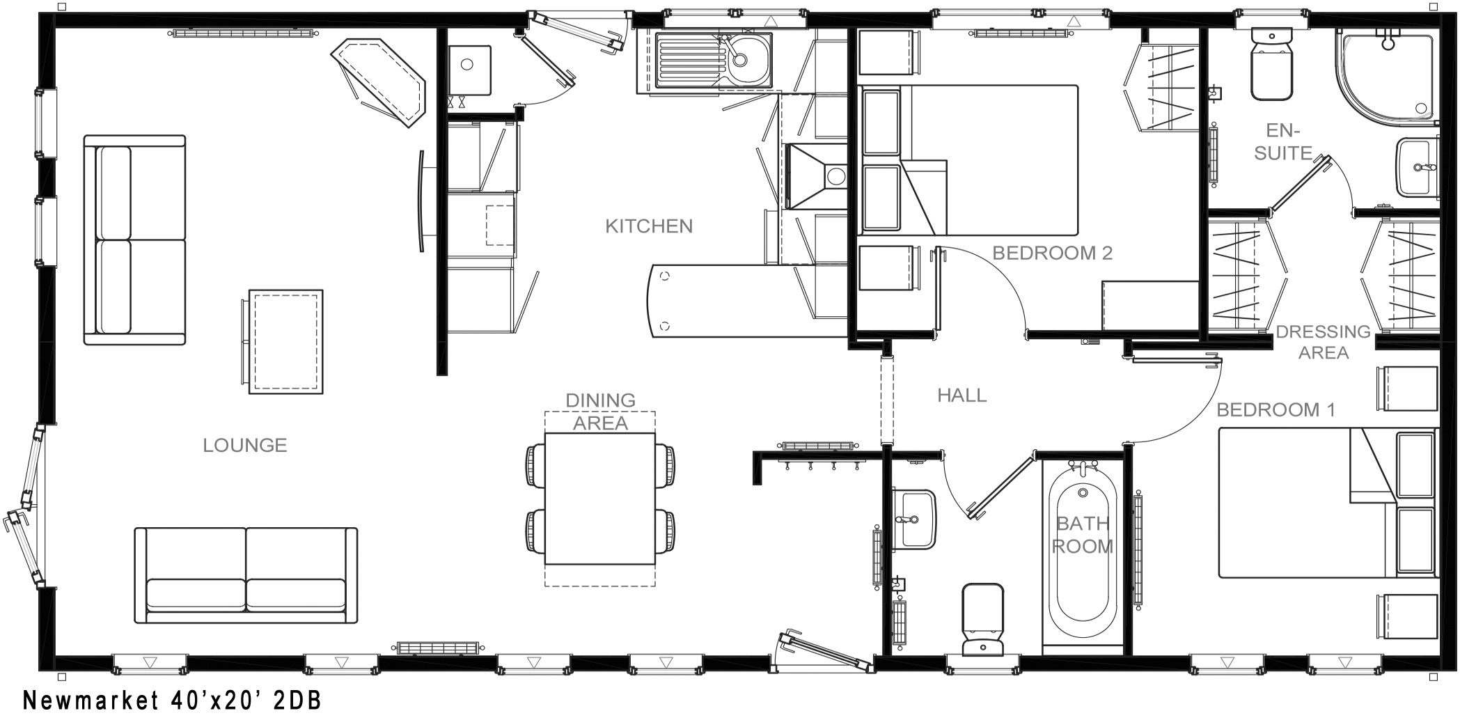 Plan 5403 Newmarket 40x20 2DB